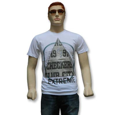 Round Neck Printed Men's T-Shirt - 12729