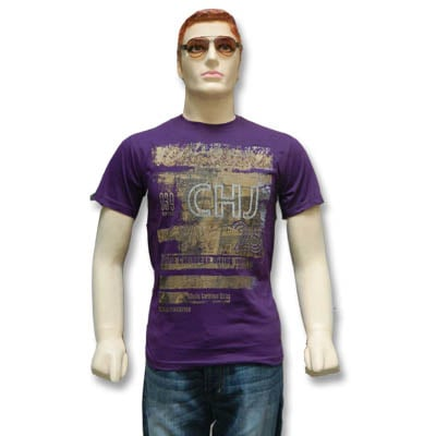 Round Neck Printed Men's T-Shirt - 12731