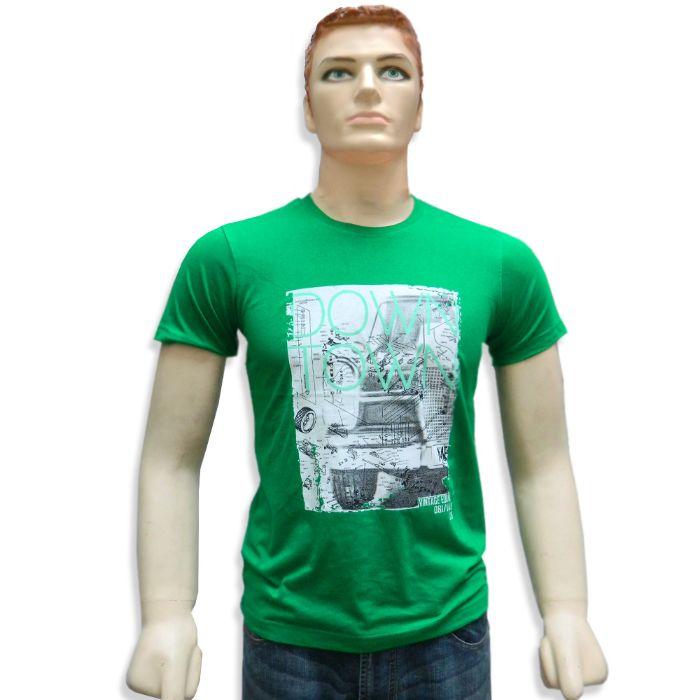 Round Neck Printed Men's T-Shirt - 11077