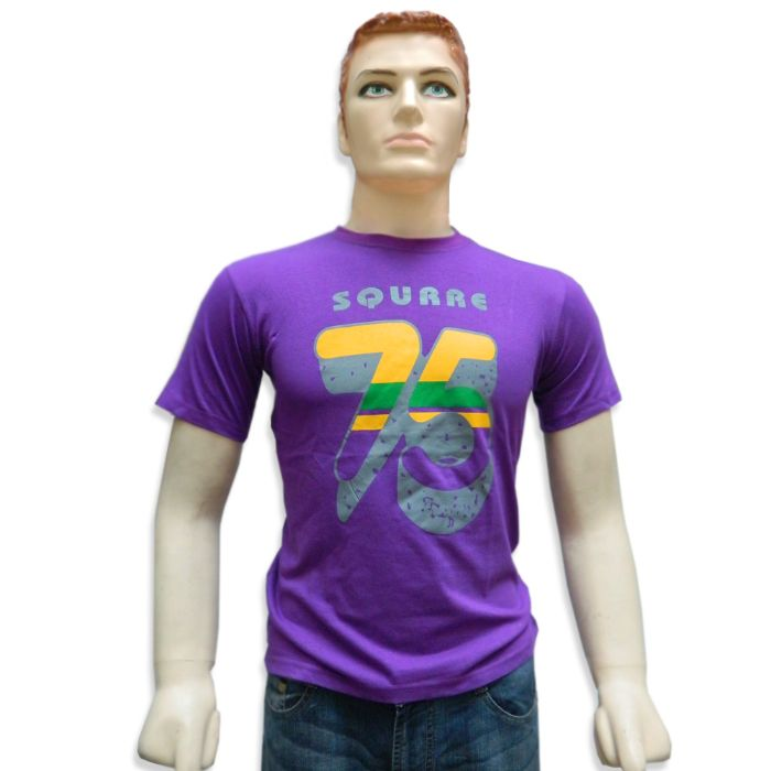 Round Neck Printed Men's T-Shirt - 11079