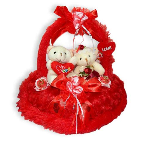 Red Love Basket