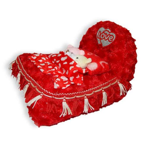 Red Love Bed
