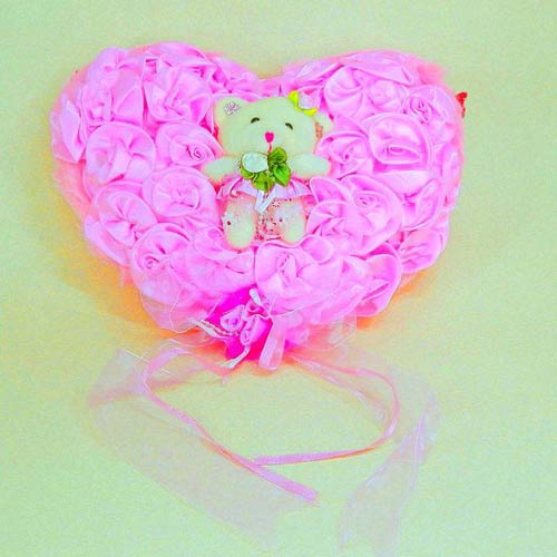Pink Heart Shape Love With Teddy