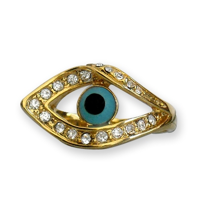 18K gold plated Evil Eye Ring F1340106