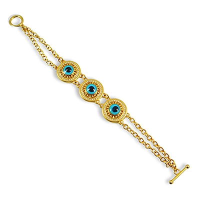 Evil eye with Golden Chain Bracelet