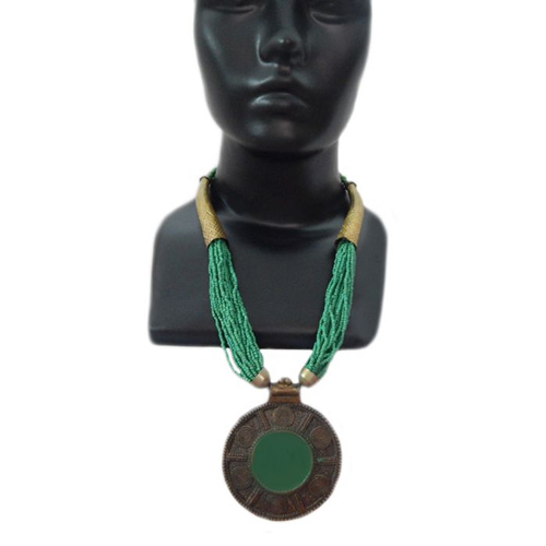 Green Cheer Necklace With Pendant