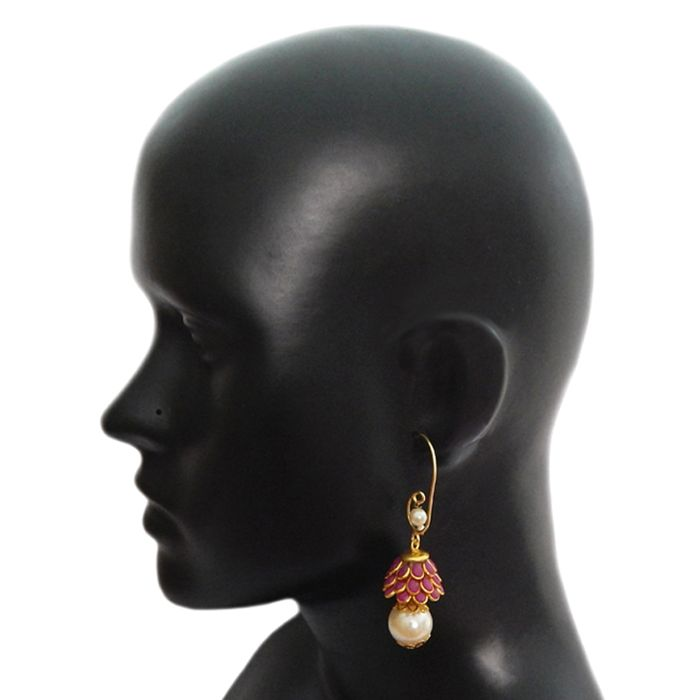 Beautiful Maroon Earrings